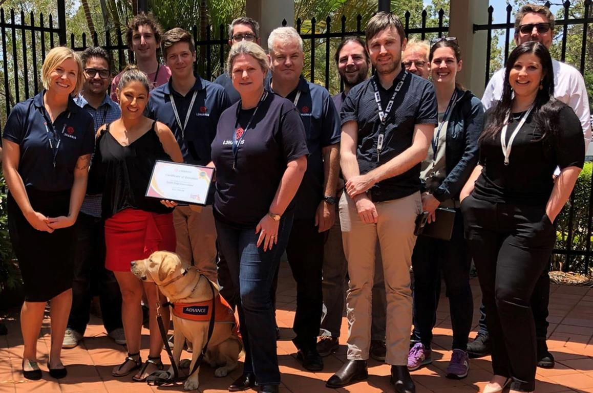 L3Harris donates to local charity, Guide Dogs Queensland